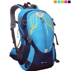 【PUSH! 戶外休閒登山用品】40L 登山包 旅行背包 U13-4藍色