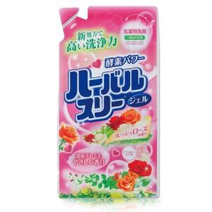 【日本Mitsuei美淨易】玫瑰花香酵素洗衣精補充包0.8kg-2入