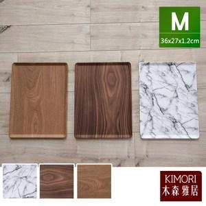 【木森雅居】KIMORI simple 45度止滑置物盤/餐盤 M深木紋