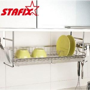 【韓國原裝進口STAFIX】不銹鋼固定式碗盤瀝水架66X25.5X26.5CM
