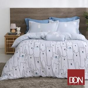 【DON度假熊】單人四件式天絲兩用被床包組