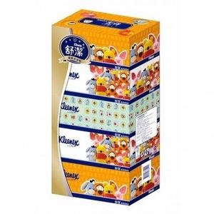 舒潔 風情盒裝面紙140抽(5盒x10串/箱)
