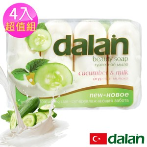 【土耳其dalan】黃瓜牛奶舒緩保濕皂90g X4 超值組