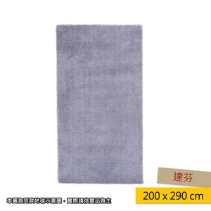 HOLA 達芬防蟎抗菌地毯 200x290cm 灰色
