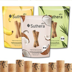 【Suthera】椰奶蛋捲70gx12入(原味x4香蕉x4香蘭x4)