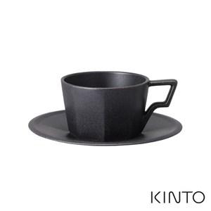 日本KINTO OCT八角咖啡杯盤組220ml-黑