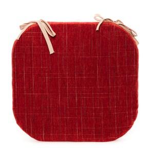 香奈兒絨棉馬蹄餐椅墊 38x41cm 紅色款
