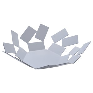 Alessi 幾何方型不規則水果籃 置物籃 白色 24cm