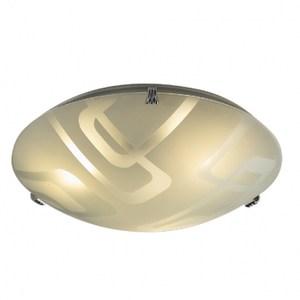 現代幾何三燈玻璃吸頂燈