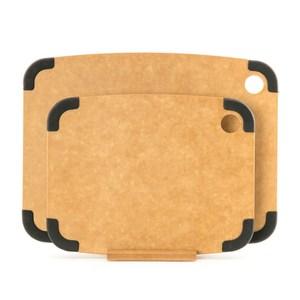 HOLA 高密度木纖維止滑砧板 兩入組 M+S 附座