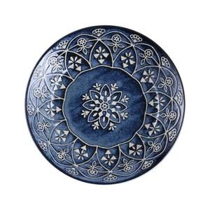 日本摩洛哥風盤20.5cm 藍