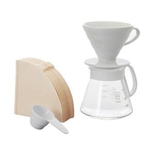 HARIO V60白色濾杯咖啡壺組 XVDD-3012W 2-5杯份