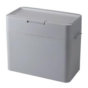 【日本Like it】桌上小型防臭按壓式垃圾桶9.5L-灰色