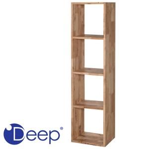 Deep 實心橡木1X4格置物櫃 38x30x146cm
