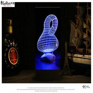 北歐3D立體 USB LED創意小夜燈-喇叭