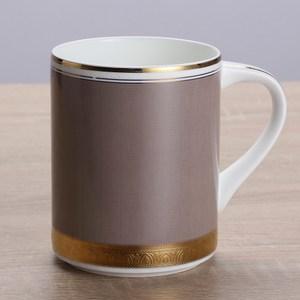 HOLA home 艾勒琴骨瓷馬克杯 淺棕