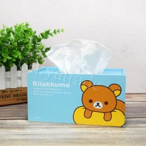 【Rilakkuma】拉拉熊 懶懶熊超萌抽拉式 面紙盒 衛生紙盒-天藍
