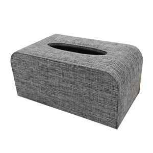 品味布緻面紙盒 迷霧灰