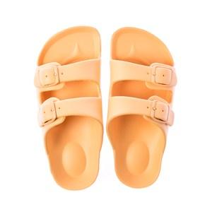 HOLA 兒童室內舒足童拖鞋-黃18