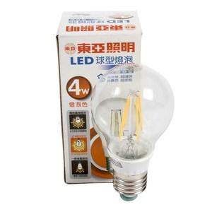 東亞 4W LED鎢絲黃光燈泡E27