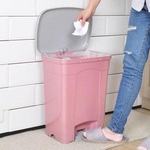 吉利潔腳踏式垃圾桶25L-粉紅