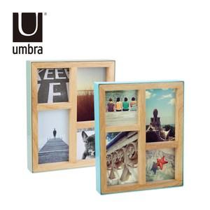 UMBRA 原木四格相框 混色1入