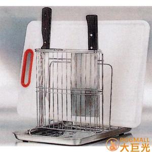 【大巨光】不鏽鋼桌上型刀具砧板鍋蓋架-含不鏽鋼盤(3040S)