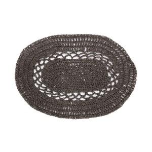 HOLA 婭蔓紙纖編織橢圓餐墊 30x40cm 灰