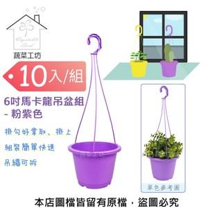 6吋馬卡龍吊盆組 - 粉紫色-10入/組