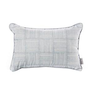 HOLA 亞倫印花抱枕30x45cm 網格灰