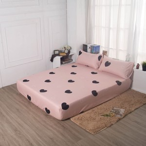 【夢工場】暖心心暖棉感絨床包枕套組-雙人