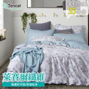 【eyah】60支天絲奢華時尚台灣製雙人床包被套四件組-晴為黛影