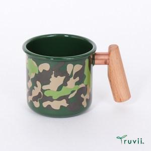 Truvii 琺瑯杯-迷彩綠400ml