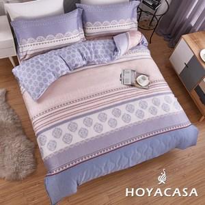 【HOYACASA】典韻加大四件式抗菌天絲兩用被床包組