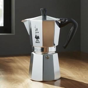 Crate&Barrel Bialetti 9人份咖啡壺 銀