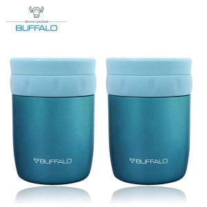 《兩入》【BUFFALO牛頭牌】400ml食物罐(藍) AF4A304粉藍