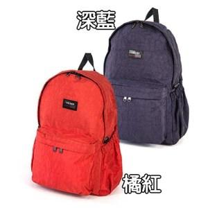 YESON - 多功能防水雙肩後背包兩色可選-MG-B227橘紅