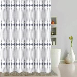 幾何圖騰防水浴簾180x180cm