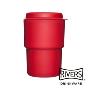 日本 Rivers WALLMUG DEMITA隨行杯290ml-紅