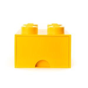 樂高系列 - 經典方塊四抽屜盒(檸黃)