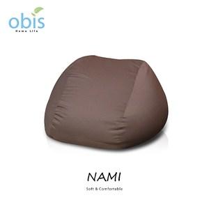 obis NAMI 日式超微粒舒適懶人三角形沙發-咖啡