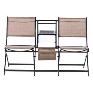 鐵特斯林雙人折疊椅