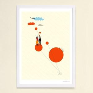 【摩達客】西班牙知名插畫家Judy Kaufmann藝術創作海報版畫掛畫裝飾畫-旅行