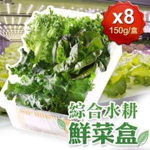 【愛上新鮮】新鮮爽脆鮮菜8盒(150g±5%/盒)