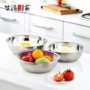 【生活采家】DEBO系列不鏽鋼三件式蔬果洗米籃#17010