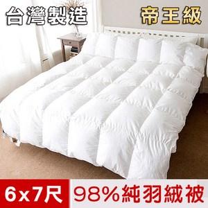 【凱蕾絲帝】台灣製造-帝王級98%純絨天然立體羽絨被(雙人6*7尺)
