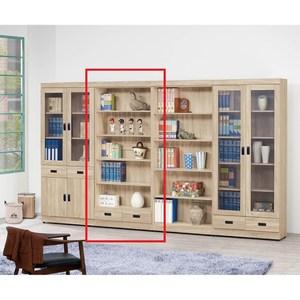 法蘭克原切橡木2.6尺開放書櫥