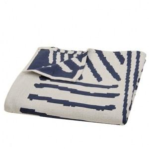 HOLA home線條主義雙面萬用毯 藍色