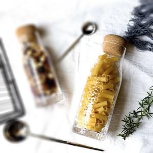 【Homely Zakka】軟木塞蓋錘紋玻璃瓶儲物瓶(500ml)