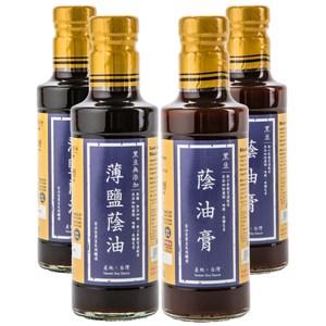 (組)在地純釀造-黑豆無添加薄鹽蔭油300ml 2入+黑豆蔭油膏300ml 2入